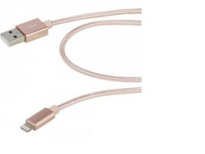 Lightning Lead 2.5m Nylon Braid Rose Gold
