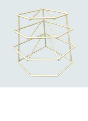 4 Tier Plate Stacker- Cream
