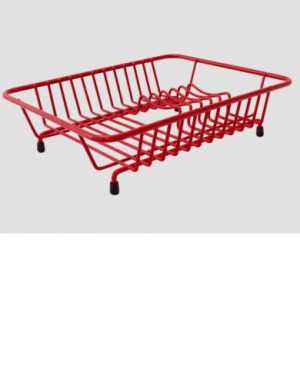 Compact Dish Drainer- Red