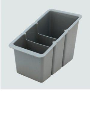 Plastic Cutlery Basket- Grey