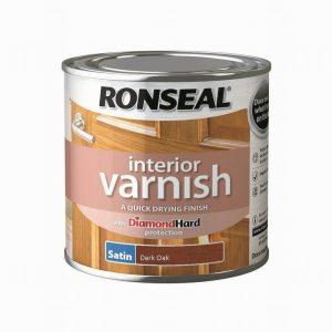 Ronseal Interior Varnish Satin Dark Oak 250ml