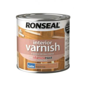 Ronseal Interior Varnish Satin French Oak 250ml