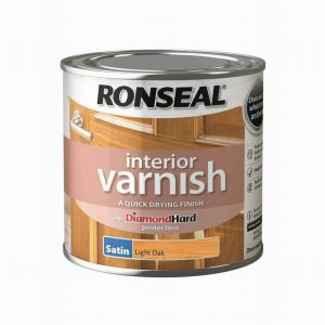 Ronseal Interior Varnish Satin Light Oak 750ml