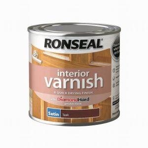 Ronseal Interior Varnish Satin Teak 250ml