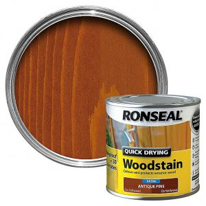 Ronseal Woodstain Quick Dry Satin Antique Pine 250ml