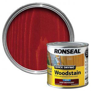 Ronseal Woodstain Quick Dry Satin Deep Mahogany 250ml