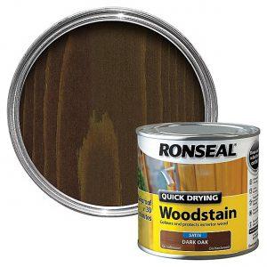 Ronseal Woodstain Quick Dry Satin Dark Oak 250ml