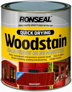 Ronseal Woodstain Quick Dry Satin Mahogany 750ml