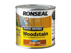 Ronseal Quick Dry Woodstain Satin Natural Oak 250ml