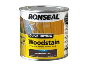 Ronseal Quick Dry Woodstain Satin Smoked Walnut 250ml