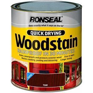 Ronseal Woodstain Quick Dry Satin Teak 250ml