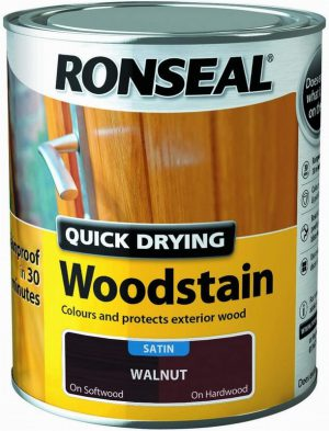 Ronseal Woodstain Quick Dry Satin Walnut 250ml