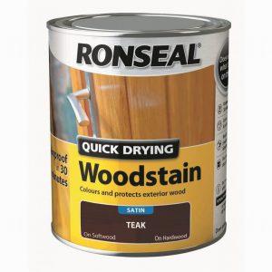 Ronseal Woodstain Quick Dry Satin Teak 750ml