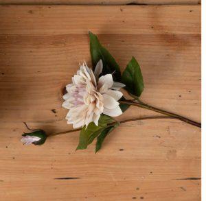 Artificial Flowers Coffee Cream Dahlia