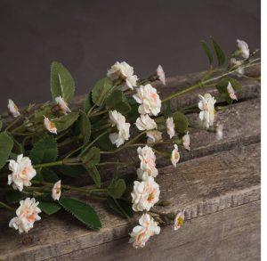 Artificial Flowers Cream Wild Meadow Rose
