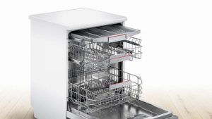 Bosch SMS4HCW40G Full Size Dishwasher – White – 14 Place Setting
