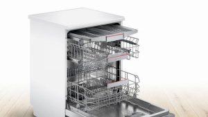 Bosch SMS4HCW40G Full Size Dishwasher – White – 14 Place Setting
