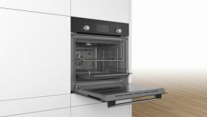 Bosch HHF113BA0B Built In Electric Single Oven With 3D Hot Air