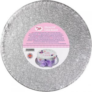 Cake Drum Silver 10inch