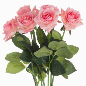 Artificial Flowers Pink Garden Rose
