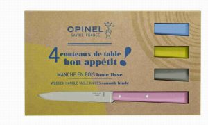 Opinel Table Knives- Set Of Four (No.125 Champagne)