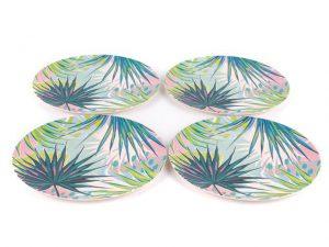 Cambridge Bamboo Plates x 4 Kayan Print
