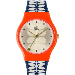 Orla Kiely Watch Navy Blue 60's Stem Print