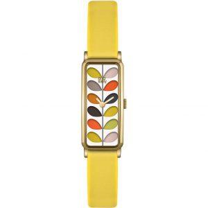 Orla Kiely Watch Stem Yellow Strap