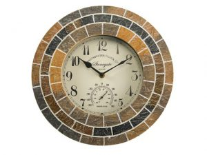 SmartGarden Stonegate Mosaic Clock + Thermometer