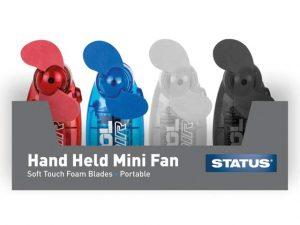 Status Hand Held Mini Fan Single- Assorted Colours (2.5 inch)