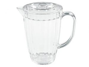 Roma Jug and Lid Clear Acrylic