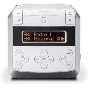 Roberts Sound48 DAB/DAB+/FM/CD Bluetooth Clock Radio, white