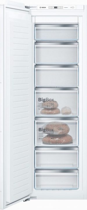 Bosch GIN81AEF0G 55.8cm Built In Tall Freezer – White – Frost Fr