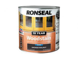 Ronseal 10 Year Woodstain Smoked Walnut 750ml