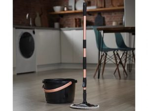 Tower Spin Mop Angle Head Black/Rose Gold