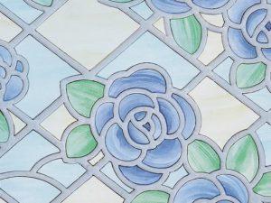 Fablon Window Amiens Blue- 67.5cm x 2m