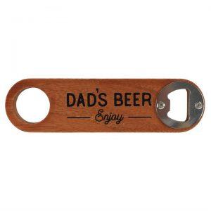 DAD'S BEER WOODEN BOTTLE OPENER