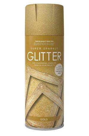 Glitter Spray Paint Gold