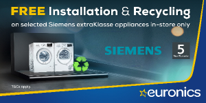 Siemens extraKlasse Free Installation and Recycling Promotion