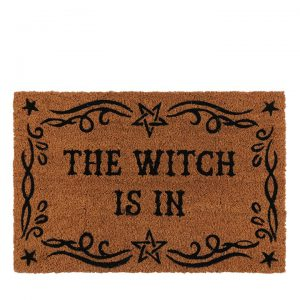 NATURAL 'THE WITCH IS IN' DOOR MAT