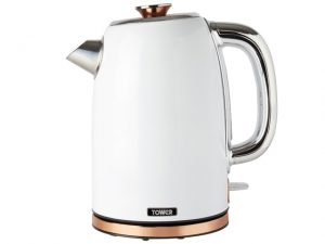 Tower Kettle White And Rose Gold