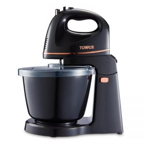 Tower Two In One Hand And Stand Mixer Black And Rose Gold 2.5L