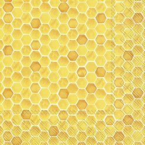 Napkin Bee Inspired Yellow x20