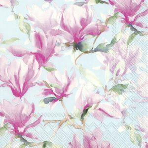 Napkin Magnolia Poesie Light Blue x20
