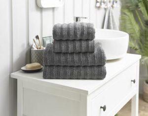 Richmond Bath Towel Charcoal