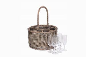 Special Event Basket- Including 6 Glasses