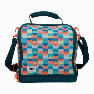 BUILT Insulated Lunch Bag, 17.5 x 24 x 26cm / 7 Litre ('Retro')
