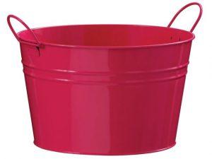 Zinc Drinks Bucket Pink 35cm x 23cm