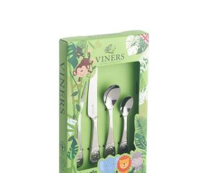 Viners Jungle 4 Pce Kids Cutlery Set Giftbox