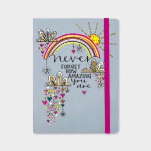 Rachel Ellen Notebook- Never Forget How Amazing You Are
